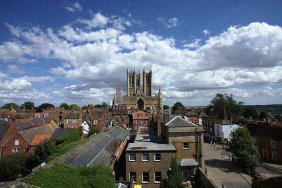 Lincoln Cathedral view from the Castle