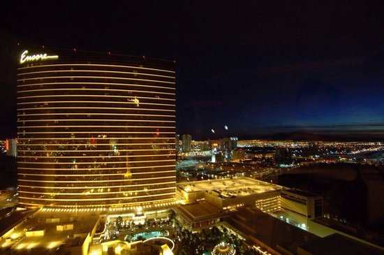 Encore At Wynn  Las Vegas: Exterior at night. Stunning.