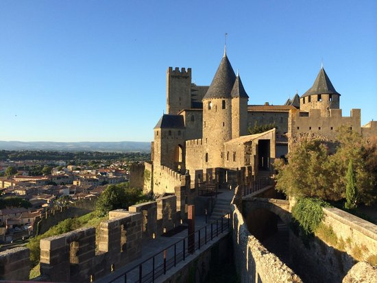Hotel de la Cite Carcassonne - MGallery Collection : View sitting having a drink on the patio