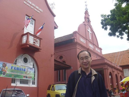 At the Christ Church in Malacca!