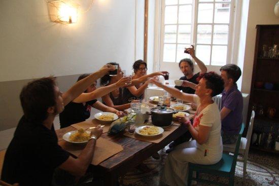 OStellin Genova - Hostel : la sala colazione