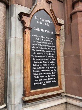 John's Lane Church: Entrance Plaque