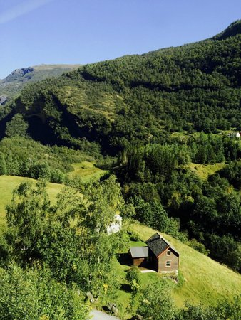 The Flam Railway: view from the train
