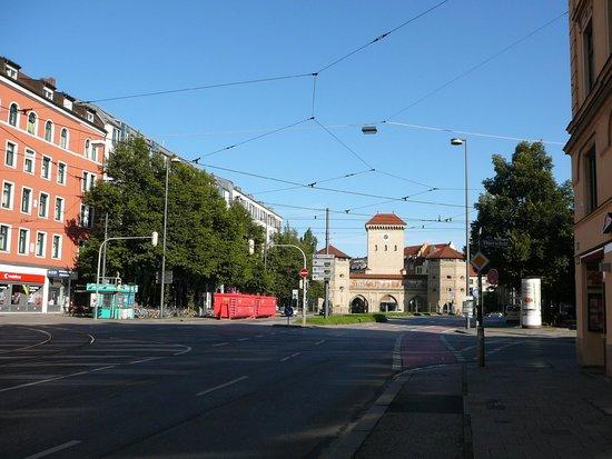 Isartor : Перспектива въезда в город
