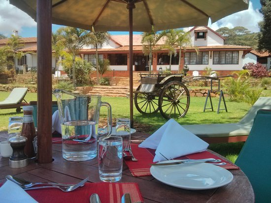 Kilima Kiu Manor: Poolside lunch