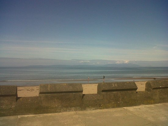 Carlton Hotel Prestwick: Arran from Prestwick beach, over the firth of Clyde
