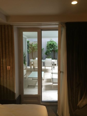 Hotel Baume: View of terrace from Room 12
