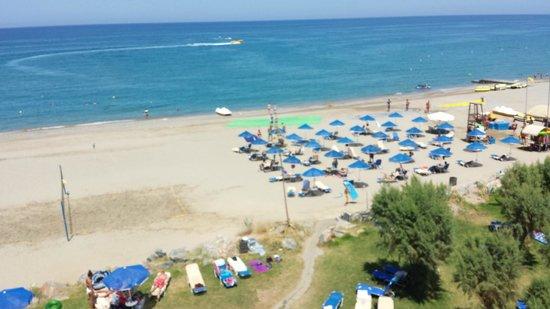 Aquila Rithymna Beach Hotel : Widok z balkonu