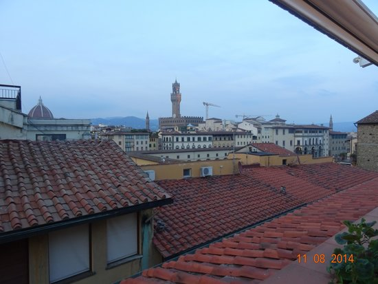 Pitti Palace al Ponte Vecchio: view from the dinning area