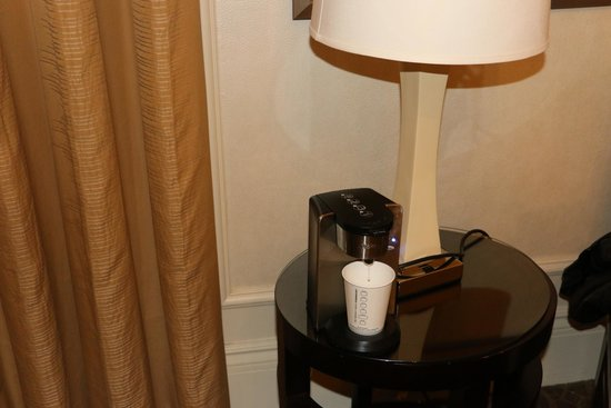 The Westin St. Francis San Francisco on Union Square: had to move the coffee machine, so we can plug it