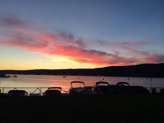 Sunrise at Keuka Lakeside Inn