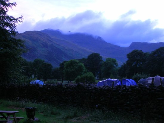 National Trust Campsite - Great Langdale: View from our Herdy Hut