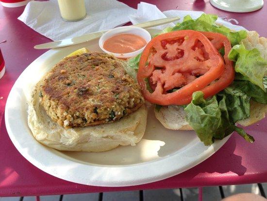 Haddam, CT: The crab cake sandwich