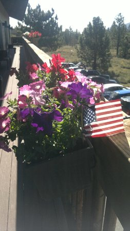Mammoth Creek Inn: Dal balcone
