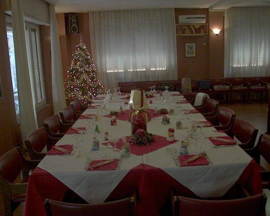 Giappone Inn Parking Hotel: Tavola imbandita per gruppo cena natalizia