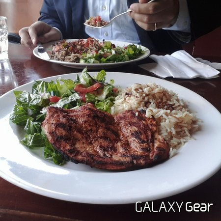 Grilled chicken breast at tabule picture of tabule middle eastern tabule middle eastern cuisine grilled chicken breast at tabule forumfinder Image collections