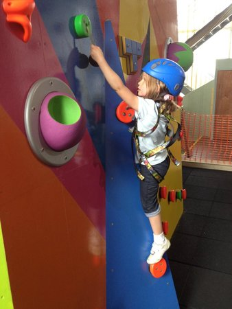 Lakeland Climbing Centre: Our 5 year old having a great time...