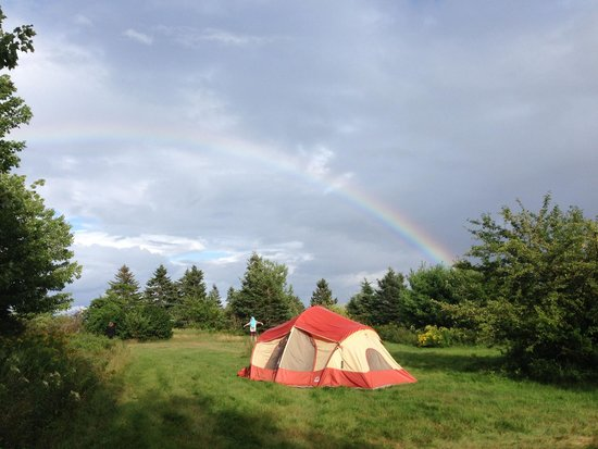 Cabot Shores Wilderness Resort and Retreat: Tent site w/ rainbow