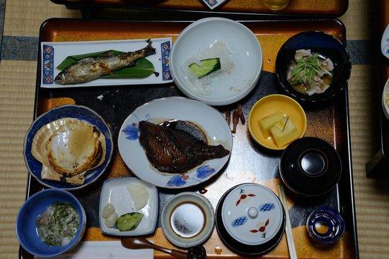 Tennenyu Miharashiso: 老神温泉見晴荘の夕食
