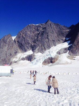 Herbert Glacier : En el glaciar