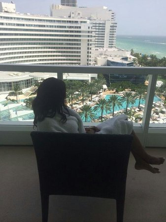 Fontainebleau Miami Beach : View from my Sorrento Suite