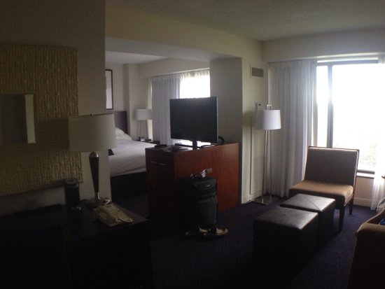 Hyatt Regency Lisle near Naperville: Our room.. Sleeping area and sitting area