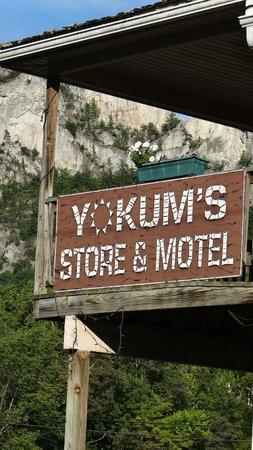 Yokum's Vacationland: Motel signage