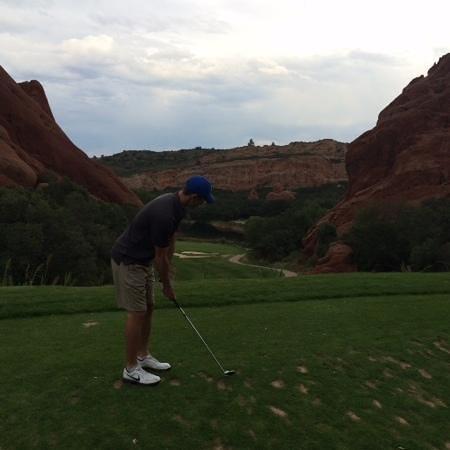 Arrowhead Golf Club: From the tee on 13th - stunning beauty!