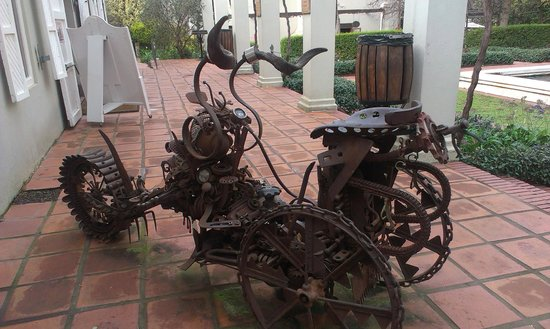 Fairview Wine and Cheese: Steampunk motor-trike