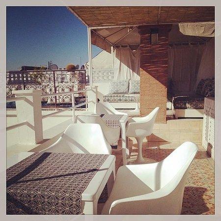Hotel du Tresor: The roof terrace