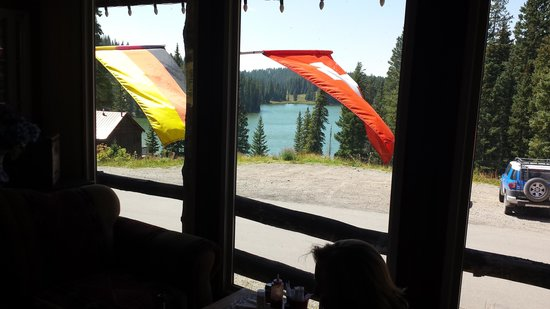 Alexander Lake Lodge: View from enclosed porch
