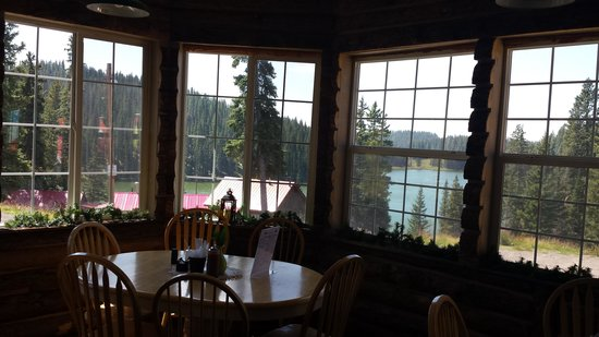 Alexander Lake Lodge: Back dining area and view