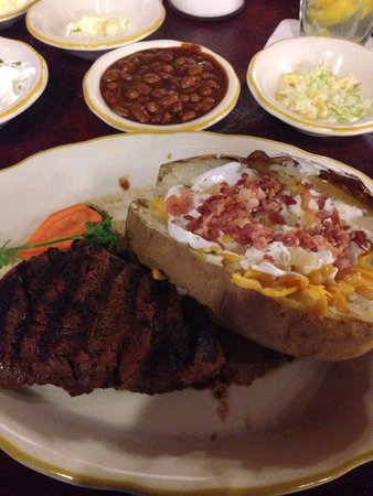 Cattleman's Steakhouse Indian Cliffs Ranch : Best steak I've ever heard for half the price!!!!