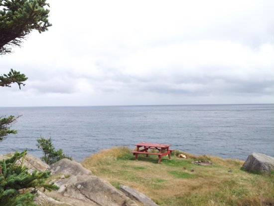 Meat Cove Campground & Oceanside Chowder Hut: #11 too windy