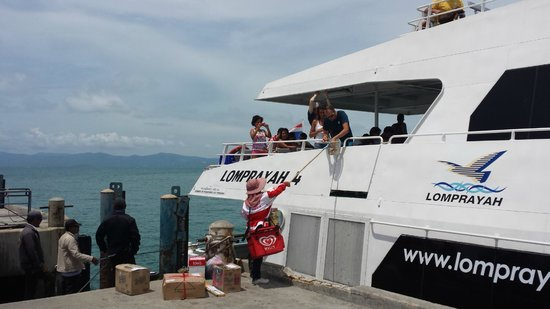 Lomprayah High Speed Catamaran: Particolare dell'aliscafo