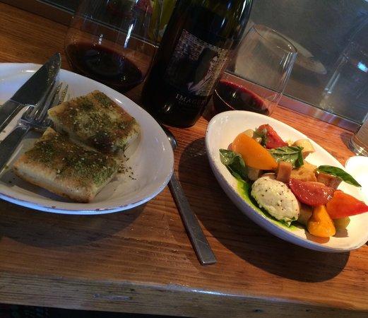 Glen Ellen Star: Bread and Heirloom tomato salad