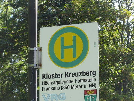 Kloster Kreuzberg: its on a bus stop in case you don't have a car