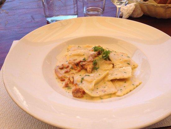 Bergrestaurant Blatten : Ravioli with Chanterelle mushrooms. Half portion!
