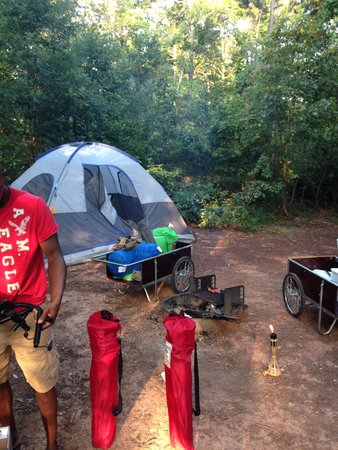 Don Carter State Park: Campsite up the hill