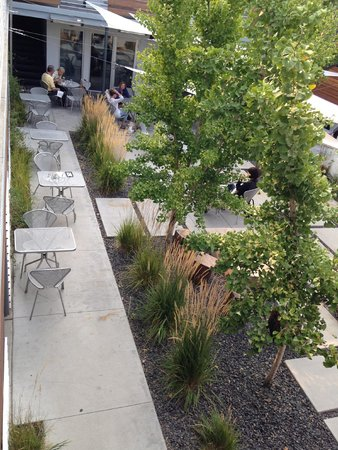 The Modern Hotel and Bar: Patio dining area from 2nd floor