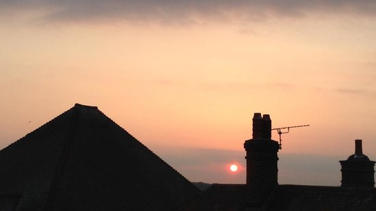 The George in Rye: Sunset over East Sussex from our room