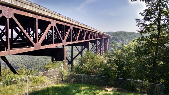 New River Gorge Bridge: View From End of Bridge