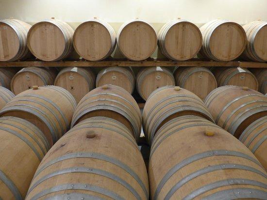 Domaine La Garelle: Casks of reserve wine