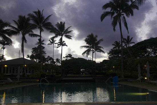 Travaasa Hotel Hana: The adult only infinity pool at dusk