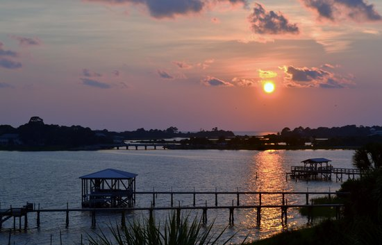 Seahorse Landing Condos: Sunset from #503 porch