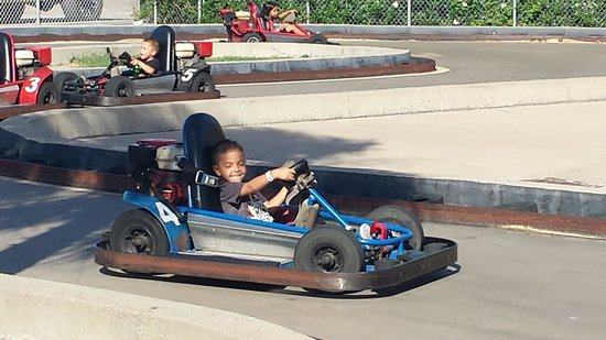 Funtrackers Family Fun Center: Even my tiny 4yr old was king of the track :)