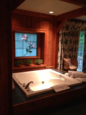 Crescent Lodge & Country Inn : Beautiful Window and great tub