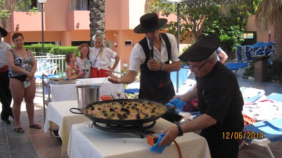 OLA Hotel Maioris: Paella Cooking Demo By the Pool