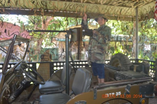 Palawan Special Battalion WW2 Memorial Museum: My son love the Jeep.