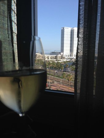 Hard Rock Hotel San Diego: A view with some vino ;)